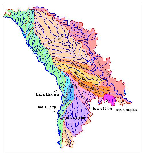 Harta hidrografică a Republicii Moldova